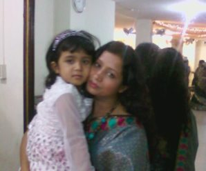 Editor Julie and her daughter Raha Chowdhury