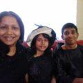 Nafiza/Julie, son JIM chowdhury, daughter Raha chowdhury