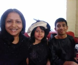 Nafiza /Julie's and her daughter Raha chowdhury And son Jim chowdhury